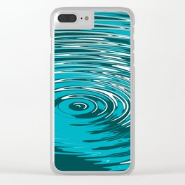 Digital Ripple Clear iPhone Case