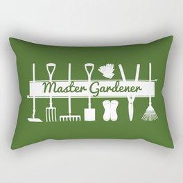 Master Gardener Simple Modern Forest Green Rectangular Pillow