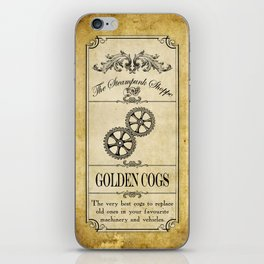 Steampunk Apothecary Shoppe - Cogs iPhone Skin