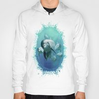 dolphins Hoodies featuring Dolphins by Lynne Hoad