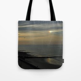 Cromer's setting sun and Sundog Tote Bag