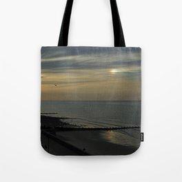 Cromer's setting sun and Sundog Tote Bag