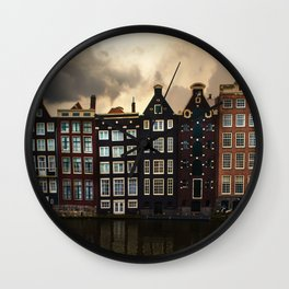 Postcards from Amsterdam Wall Clock