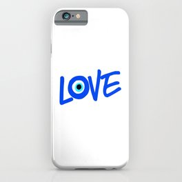 LOVE Greek Eye Design iPhone Case