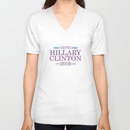 Vote Hillary Clinton 2016 Unisex V-Neck