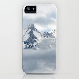 Eiger Mountain in Clouds iPhone Case