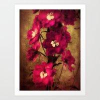 vintage flowers Art Prints featuring Vintage Flowers by Christine Belanger