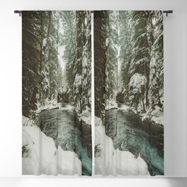 Adventure Awaits River II - Pacific Northwest Nature Photography Blackout Curtain