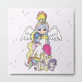 My Little Pony (chibi version) Metal Print