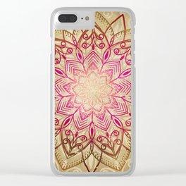 Desert Mandala Clear iPhone Case