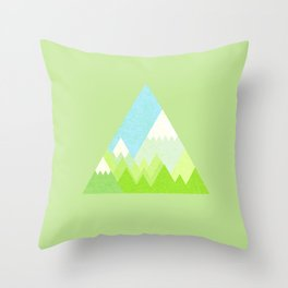national park geometric pattern Throw Pillow