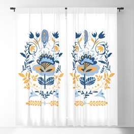 Scandinavian Folk Art 011 Blackout Curtain