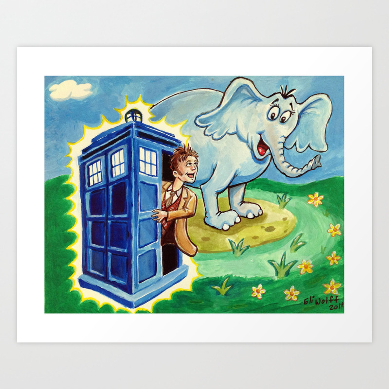 Horton Hears A Dr Who Art Print By Eliwolff Society6