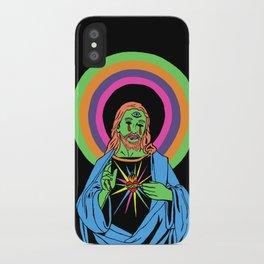Blacklight Jesus iPhone Case