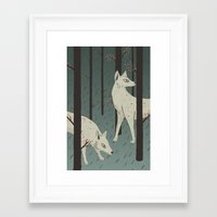 wolves Framed Art Prints featuring Wolves by James White