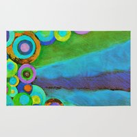 gumball Area & Throw Rugs featuring Evening Garden by Music of the Heart