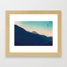 Kurdish Zagros Mountains in watercolor by Adam Asar Framed Art Print