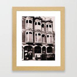 Victorian Street Framed Art Print