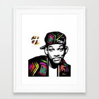 fresh prince Framed Art Prints featuring The Fresh Prince by hilbertart