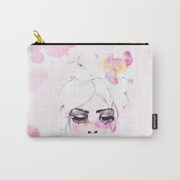 Speechless Girl - My pink sadness in watercolors Carry-All Pouch