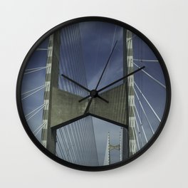 Abstract Engineering Wall Clock