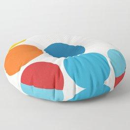 Airavata - Minimal Rainbow Color Retro Dots Floor Pillow