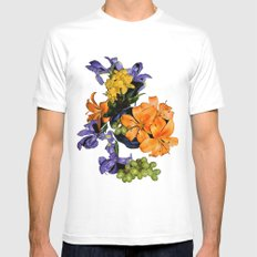 Lilies, Irises, Grapes Mens Fitted Tee White MEDIUM