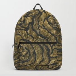 Intense Rose Print on Textured Canvas Backpack