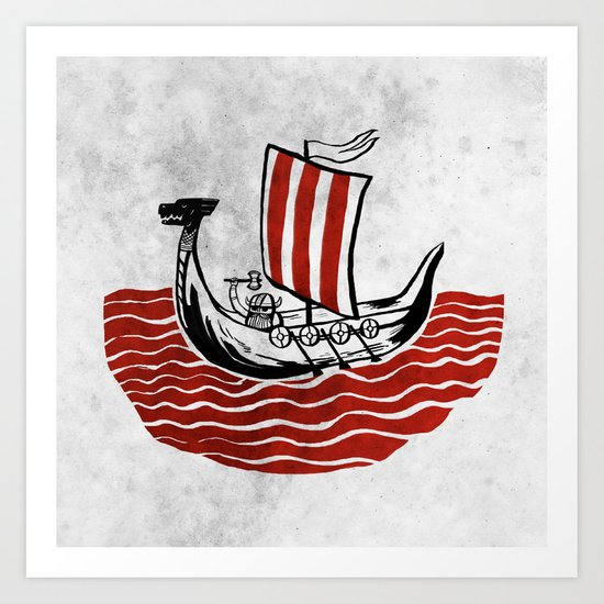 Lone Viking Art Print