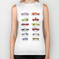 simpsons Biker Tanks featuring Simpsons Cars by SIME Design