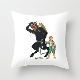 Unmerry Krampus Throw Pillow