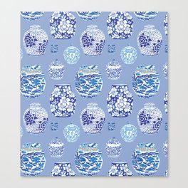 Chinoiserie Ginger Jar Collection No.6 Canvas Print