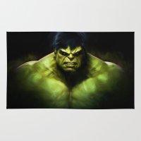 hulk Area & Throw Rugs featuring Hulk by DisPrints
