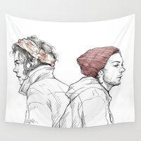 larry Wall Tapestries featuring Rose and Dagger by Rosketch