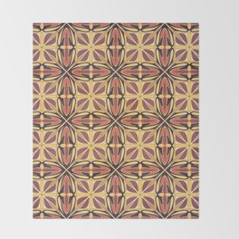 Abstract geometric retro seamless pattern Throw Blanket