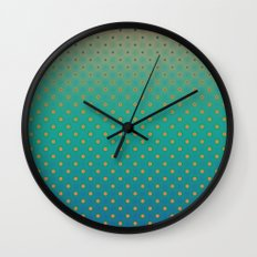 Polka Plankton Blue Wall Clock