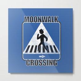 Moonwalk Crossing Metal Print