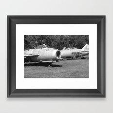 vintage planes Framed Art Print