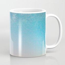 Milky Way Galaxy Star Sky Above Mountain Range Sunset Coffee Mug