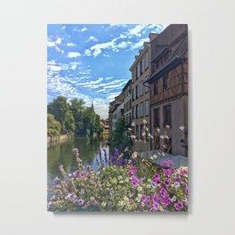 Canal de la Sarre Strasbourg Metal Print