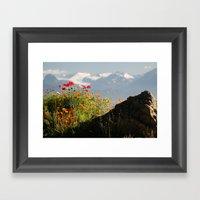 Springtime in the Mountains, Homer, Alaska Framed Art Print