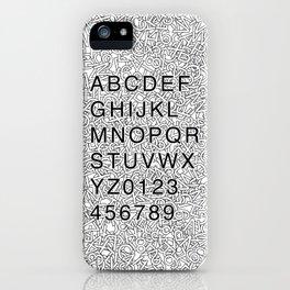 Helvetica Jumble iPhone Case