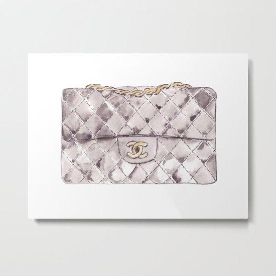 Grey mini bag Metal Print