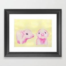 Baby Piglets Framed Art Print