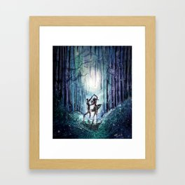 Dance by the Silver Moon Framed Art Print