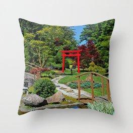 Through the Torii Gate Throw Pillow