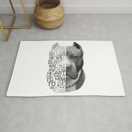 Pit Bull Print, Pit Bull Quote, Pit Bull Gift, Text Dog Portrait, Dog Art, Dog Quotes Print, Text Do Rug