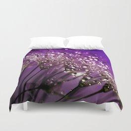 Violet Dewdrops Duvet Cover