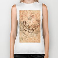 butterflies Biker Tanks featuring Butterflies by nicky2342