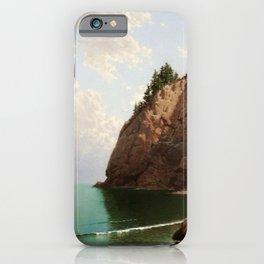 'The Secret Cove' landscape maritime painting iPhone Case